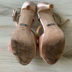 Badgley Mischka Shoes - Badgley Mischka Xavier Pink Satin Heels